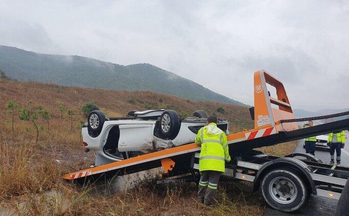 VakıfBank Spor Kulübü çalışanları Bursa'da kaza yaptı