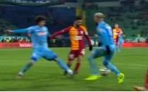 Galatasaray'ın penaltı beklediği o pozisyon