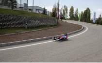 Tekerlekli Kızak Türkiye Şampiyonası yarışları Erzurum'da devam ediyor